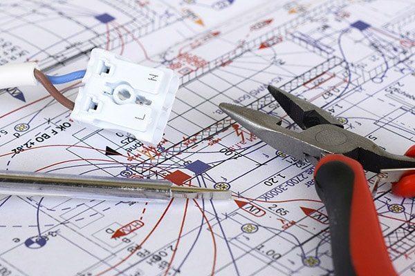 elektriker kolding el-entreprise plantegning ledning